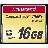 Transcend TS16GCF1000 Ultimate CompactFlash 16GB Speicherkarte (1000x, 120Mbps, Quad-Channel, VPG-20 Video Performance) schwarz