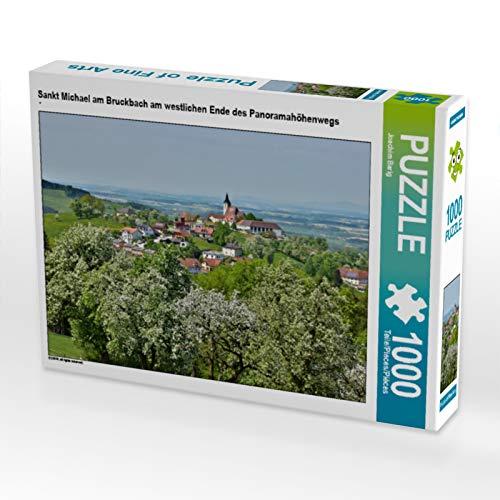 CALVENDO Puzzle Sankt Michael am Bruckbach am westlichen Ende des Panoramahöhenwegs 1000 Teile Lege-Größe 64 x 48 cm Foto-Puzzle Bild von Barig Joachim (Westlichen Ende)
