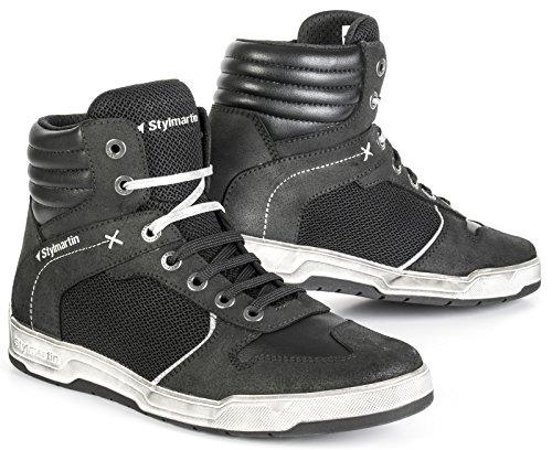 Preisvergleich Produktbild STYLMARTIN Motorradschuhe ATOM Sneaker Mesh schwarz mit Knöchelprotektoren Größe 43