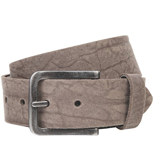 Lindenmann The Art of Belt Womens leather belt/Mens leather belt, full grain leather belt with scars, Unisex, taupe