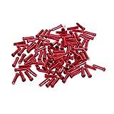 MagiDeal 100 Stk. Bremsseil Kabelendhülse 11mm für Fahrrad Bremse Kabel - Rot