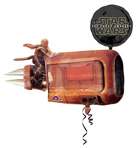 amscan Anagram 3162201 - Folienballon Super Shape, Disney Star Wars Episode VII, Reys Speeder, 88 x 73 cm