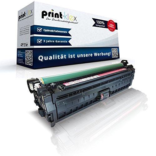 Print-Klex Kompatible Tonerkartusche für HP Color LaserJet Enterprise CP5520 Series Enterprise CP5525 DN Enterprise CP5525 N Enterprise CP5525 XH CE273 CE273A Magenta