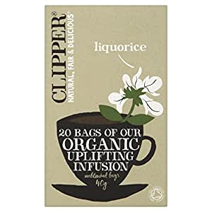 Clipper Organic Infusion Liquorice 20 Tea Bags (Pack of 6)