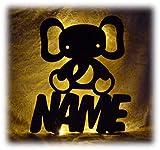 Schlummerlicht24 Led Wand-Deko Figuren Design Lampe Nachtlicht ein Jonathan Elefant mit Name-n, liebe Geschenk-idee für das Kinder-Zimmer Mädchen Baby-s Junge-n Geschenke
