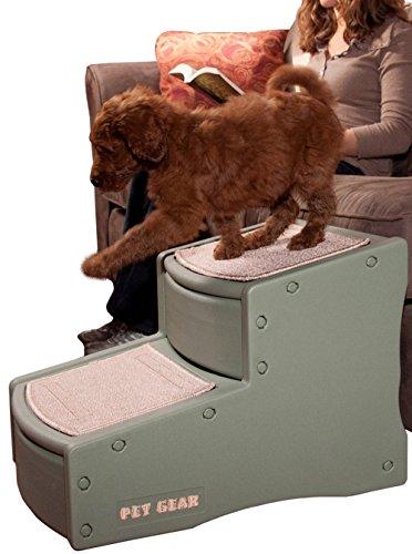 Artikelbild: Pet Gear Easy Step II Steighilfe/Treppe für Hunde, klein, Salbeigrün
