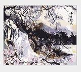 wwdfdd Pintura por números Sin Marco Pintura Retro China DIY Dibujo a Mano Pintura para Colorear Pintura por números para Adultos niño Dormitorio Arte de la Pared 40X50CM