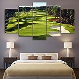 Die besten Golfplätze Poster - Premium Qualität Bedruckte Leinwand Wall Art Poster 5Stück/5Pannel Bewertungen