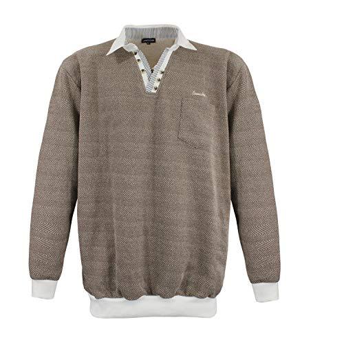 LV 15-208 Bison-Brown Lavecchia Herrenübergröße Sweatshirt in Gr. 3-8 XL, Braun, 7XL
