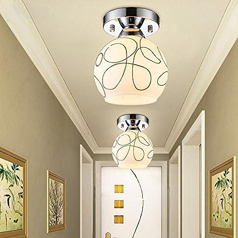 BBSLT Il Natale moderno, minimalista, lampada da soffitto, LED, corridoio, terrazza, corridoio, sala d'ingresso, Creative (15*17cm)