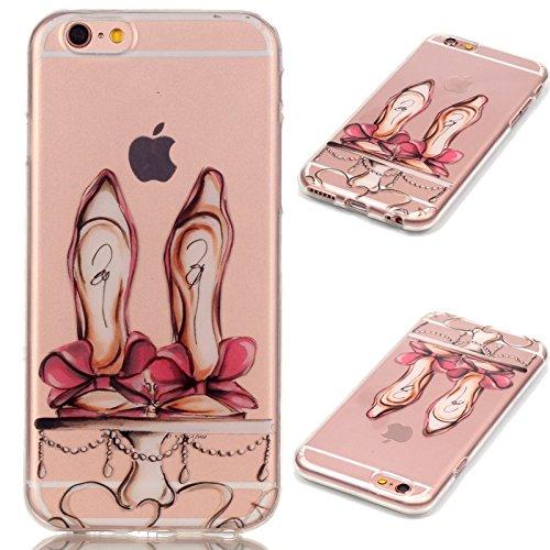 Apple iPhone 7 Schutzhülle, MyGadz® Hülle mit Muster, Handy Case Cover Schutz Tasche für iPhone 7 ultra-slim, Bunt Retro Druck Motiv - Dreamcatcher Highheel mit Schleife