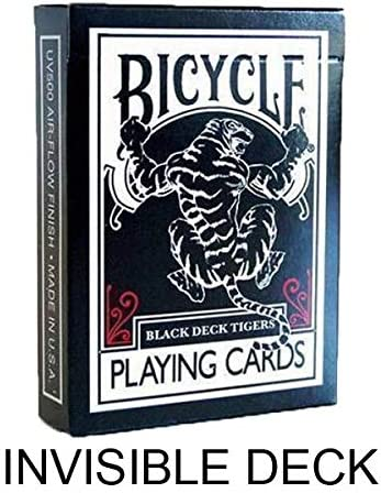 SOLOMAGIA Bicycle Tiger White and Red by by by Ellusionist - Invisible Deck - Tours et Magie Magique B01AXTITUA 80a5fb