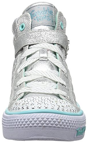 Skechers Mädchen Shuffles Sweetheart Sole Low-Top Argent (Sil Argent)