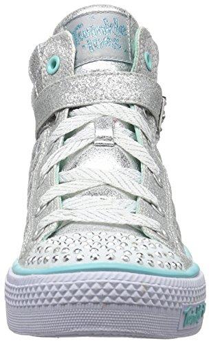 Skechers Shuffles - Sweetheart Sole, Sneakers Hautes fille Argent (Sil Argent)