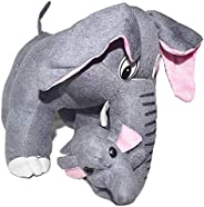dreamvio extra soft stuffed plush toy/toys for baby girl/baby boy/ kids/ gifts soft velvet fabric elephant cus
