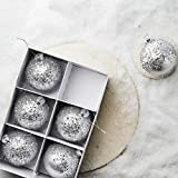 Butlers Hang ON 6 x Glaskugel mit Sternen Ø 8 cm