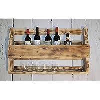 dekorie67 Whiskey Estantería de Vino de Cristal Whisky – Soporte botellero Madera ...