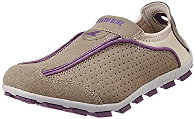Power Women's Slip New 12 Grey and Violet Canvas Running Shoes - 3 UK/India (36EU) (5392224)