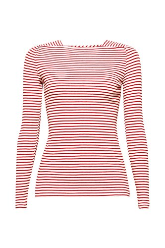 ESPRIT Collection T-Shirt à Manches Longues Femme Blanc (Off White 2 111)