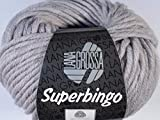 Lana Grossa Superbingo 014 Hellgrau meliert