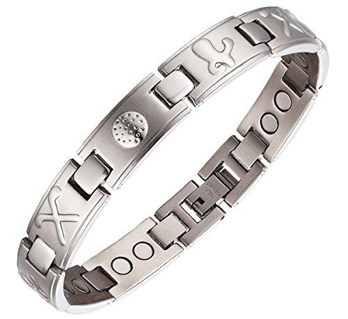 Magnetisches Armband 4Magnete, Mann Symbol Golf Sport. MH08 (Herren Golf-symbol)