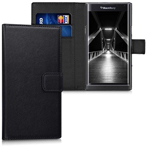 kwmobile BlackBerry Priv Hülle - Kunstleder Wallet Case für BlackBerry Priv mit Kartenfächern und Stand