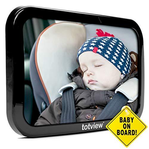 Baby-Auto-Spiegel - für hintere Autositze - große, sichere Fit Baby Spiegel - leicht anzeigen Säugling im Rücksitz - beste Neugeborenen-Baby-Zubehör für die Reise - Sicherheit getestet