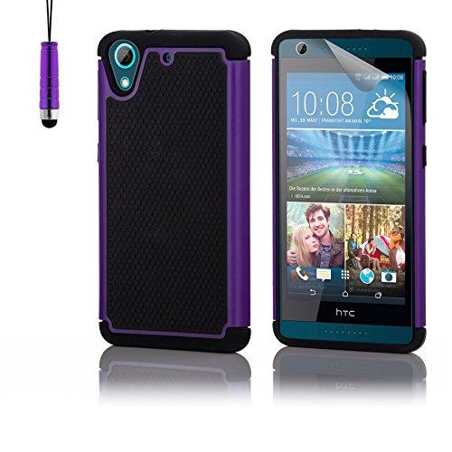 32nd Shockproof Series - Schutz Stoßdämpfung hülle vor Stürzen und Stößen für HTC Desire 626, Case Cover mit Stoßdämpfenden Kern - Violett