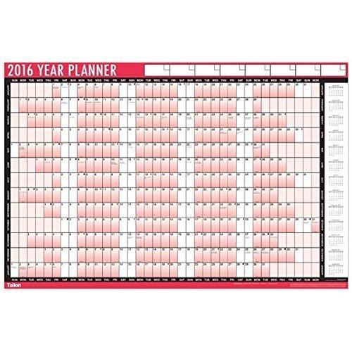 2017 Year Wall Planner - Large Size Laminated Ideal For Office School Home Calendar with Pen and Stickers Test