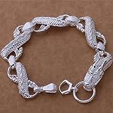 Herren Armband 925 Silber Schmuck Armband's Tide Männer Retro Schmuck
