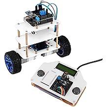SainSmart InstaBots Kit V2 TARS, motos Kit Robot Upright Rover coche de auto-equilibrio, Compatible con Arduino UNO R3 palanca de mando y control remoto del robot, un robot con PDF personalizable fácil de seguir las instrucciones (transferencia directa disponible en la descripción)