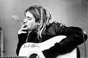 1art1 40649 Poster Kurt Cobain Fumant 91 x 61 cm