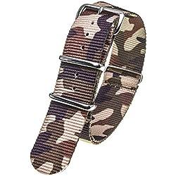 Stash Bands 20mm Desert Camo austauschbar Ersatz NATO Strap Band-natobrow20