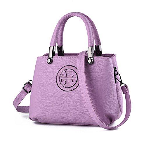 Angelliu Weiches Leder Tide Shell Handtaschen -Schulter-Beutel-Kreuz-Körper der Frauen Taschen Helles Lila