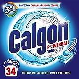 Calgon Pastilles Anticalcaire Nettoyant Lave-Linge 3en1 - 17 Tablettes - Lot de 2