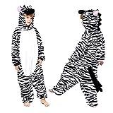 Coralup Boys Girls Animal Onesie Unicorn/Dinosaur/Lion/Zebra Jumpsuits Fluffy Onesies Hooded Fleece Supersoft Flannel One Piece Sleepsuit for Kids Nightwear