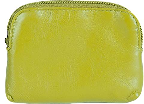 GOLUNSKI SOFT LEATHER WOMENS TOP ZIP COIN PURSE, DIFFERENT COLOURS 0-327 (Deep Lime Green)