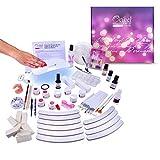 Ocibel Gel UV 3 Étapes Kit de Manucure Faux Ongles 36 W Taille XL