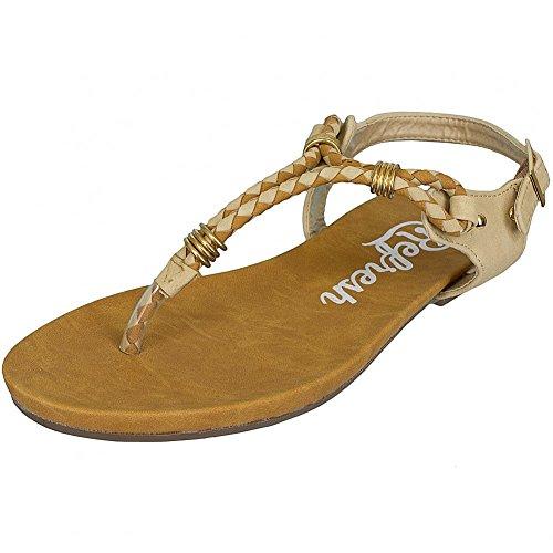 Refresh Shoes, Sandali donna Nero nero Nero (Marrone)