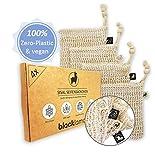 QUALITÄT & DESIGN [4x] Sisal Seifensäckchen mit Baumwoll-Labels - 100% vegan - Zero-Plastic...