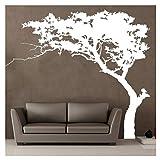 Kuke Wandtattoo Kiefer Abnehmbare DIY Wand-Aufkleber Wandsticker für Wohnzimmer Sofa Hintergrund Schlafzimmer (220 * 180 cm / 86.61 * 70.86 inch, Weiß)