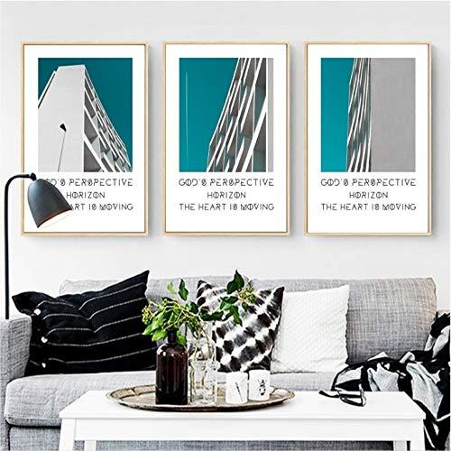 yiyitop 3 stücke von architektonischen Stil Serie dekorative malerei wandmalerei Druck Bilder leinwand malerei Wohnzimmer Poster ohne Rahmen