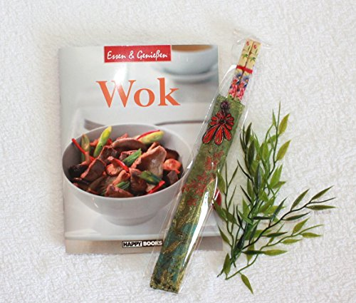 AAF Nommel ® Wok Kochbuch + 1 paar Essstäbchen - Kochen mit dem Wok – Essen und Geniessen Nr. 001