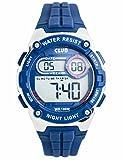 Club Jungen Armbanduhr Digitaluhren, Kinder Sport 10 bar wasserdicht Digital Uhren mit Alarm/Timer/EL Licht,Blau Kinderuhren Outdoor Armbanduhr für Jugendliche Jungen A47113S8E