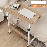 Alexzh_Side tables Beistelltisch, Computertisch Beweglicher anhebbarer einfacher Schreibtisch Fauler Nachttisch, Schlafsaal Schlafzimmer Wohnzimmer (Farbe : #5, größe : 70 * 45cm)