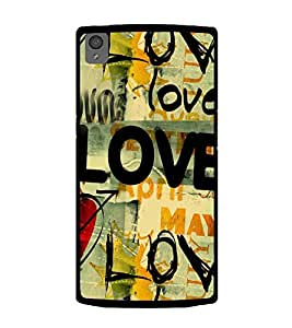 Love Wallpaper 2D Hard Polycarbonate Designer Back Case Cover for OnePlus X :: One Plus X :: One+X