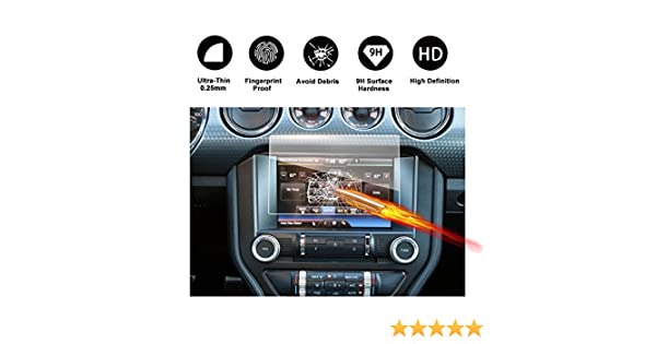 SYNC 2//3 2014-2017 unsichtbare Displayschutzfolie Schirmfolie Glasfolie Klarsichtfolie-RUIYA Geh/ärtetes Glas Schutzfolie 8 Zoll f/ür das Navigationssystem von Ford Mondeo V
