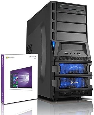 shinobee A10-5745 Quad Gaming-PC - nVidia Geforce GTX1050 - 8GB DDR3 - 1 TB HDD - Windows 10 - DVD±RW - Gamer PC - Gaming Computer - Desktop PC - Rechner #5222