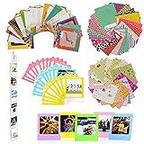 Jxe Bundle Kit d'accessoires 8en 1pour Fujifilm Instax carré Sq10/Sq6/SP-3Camera ¨ C Lot de Stickers muraux, Suspendre Cadre, Dentelle Photo Pouch Sac, Structure de Bureau