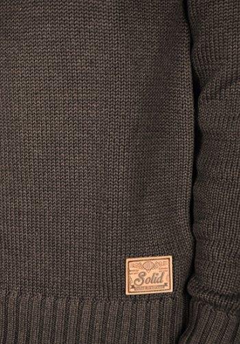 SOLID Pagan Herren Strickjacke Cardigan Grobstrick mit Schalkragen aus hochwertiger Baumwollmischung Meliert Coffee Bean Melange (8973)